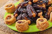 foto of lenten  - Oriental sweets and dates stuffed with cashew - JPG