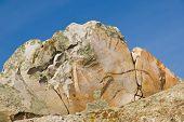 Quartzite Boulder Against The Sky