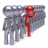 Stand Out From The Crowd Character Different Individuality Man poster