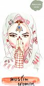 image of hijab  - Turkish muslim woman - JPG