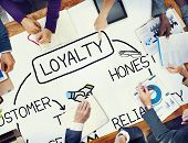 picture of loyalty  - Loyalty Customer Service Trust Honest Reliability Concept - JPG