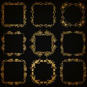 foto of brocade  - Vector set of decorative hand drawn elements - JPG