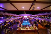 in the deck of Costa Deliziosa - the newest Costa cruise ship