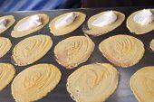 image of crepes  - close up of thai crispy pancake  - JPG