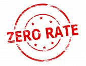 stock photo of zero  - Rubber stamp with text zero rate inside vector illustration - JPG