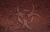stock photo of biohazard symbol  - A biohazard symbol - JPG