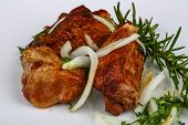 pic of onion  - Grilled pork meat  - JPG