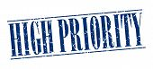 foto of priorities  - high priority blue grunge vintage stamp isolated on white background - JPG