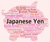 stock photo of yen  - Japanese Yen Meaning Worldwide Trading And Word - JPG