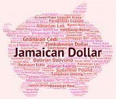 stock photo of jamaican  - Jamaican Dollar Represents Currency Exchange And Dollars - JPG
