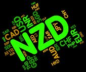 foto of nzd  - Nzd Currency Showing New Zealand Dollar And New Zealand Dollar - JPG