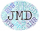 stock photo of jamaican  - Jmd Currency Indicates Jamaican Dollar And Coin - JPG