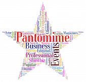 picture of pantomime  - Pantomime Star Showing Melodrama Word And Theater - JPG