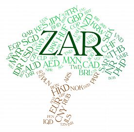 image of zar  - Zar Currency Representing South African Rand And South Africa Rand - JPG