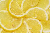 cut lemon with sugar