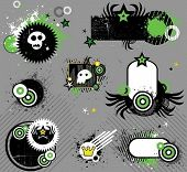 Punk set of design elements. To see similar design elements, please visit my gallery