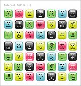 Internet web smiles. Glossy emotions icons. To see similar, please visit my gallery.