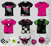 Emo t-shirts. To see similar design elements, please visit my gallery