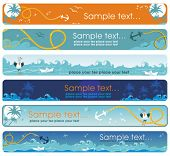 Summer sea banners. To see similar, please VISIT MY GALLERY.