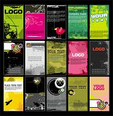 stock photo of emo  - Collection vertical business cards templates 11  - JPG