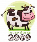 Cute friendly cow. 2009 is the Year of the Ox according to the Chinese Zodiac. To see similar, pleas