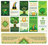 St. Patrick's Day banners with copy space. To see similar, please VISIT MY GALLERY.