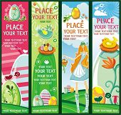 image of happy easter  - Cute Vertical Easter banners - JPG