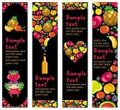 Colorful fruit banners. To see similar,  please VISIT MY PORTFOLIO