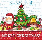 stock photo of letters to santa claus  - Christmas theme - JPG