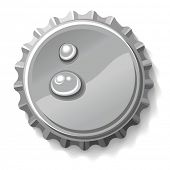 Vector detailed illustration of bottlecap isolated over white background