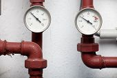 Two Thermometers Pipes