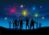 A group of people enjoying a night of celebration.
