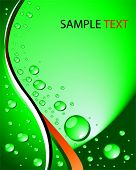 vector droplets background in green