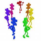 Full Spectrum Puzzle Pieces Independent Piece