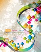 multicolor cube design in eps10 vector format