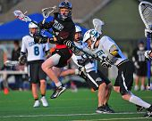 Boys Lacrosse Sisters HS Shot on goal