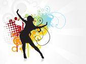 Zijn een meisje dansen vector achtergrond