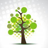 vector abstract circles tree illustration