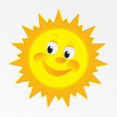 Vector sol feliz vector art design