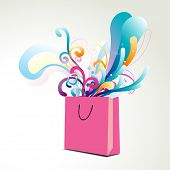 vector floral colorful bag illustration