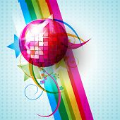 vector disco ball design illustration