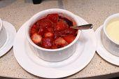 Strawberry Syrup Dessert