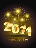 vector new year stylish golden color design