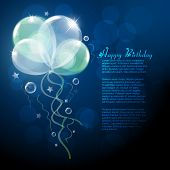 picture of happy birthday card  - beautiful vector balloons design background - JPG