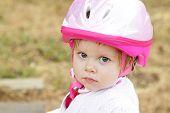Toddler Girl With Helmet