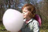 Child And Candy Floss