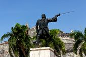 Pirate Statue In Cartagena
