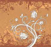 Grunge floral abstrata padrão