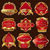 Vector collection of luxury labels