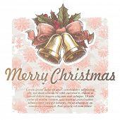Weihnachten-Vektor-Ferien-Illustration mit Hand-Glocken